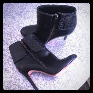 COACH Ankle Booties Boots Black 6.5